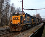 CSX 6158 leading C770 in last light of the day.
